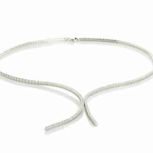 girocollo tennis top in argento
